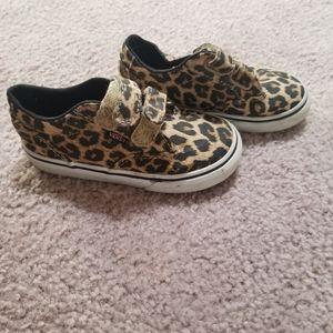 Girls Cheetah print vans